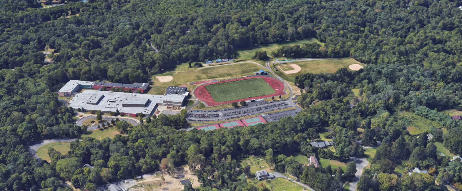 Byram Hills High School in Byram Hills Central School District in Armonk, New York