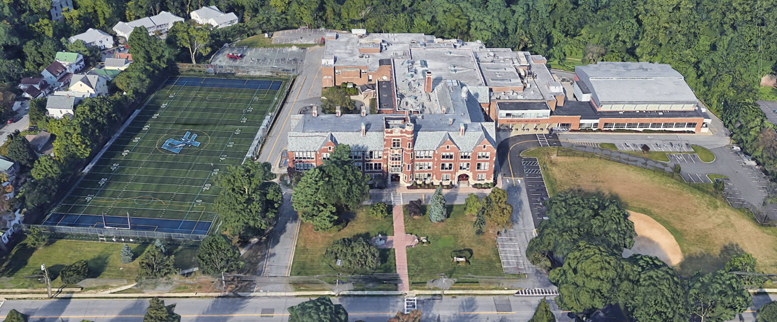 Dobbs Ferry Middle School and High School Campus in the Dobbs Ferry School District in Dobbs Ferry, New York